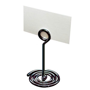 "Spiral base tabletop sign holder, 4"" high - Click Image to Close"